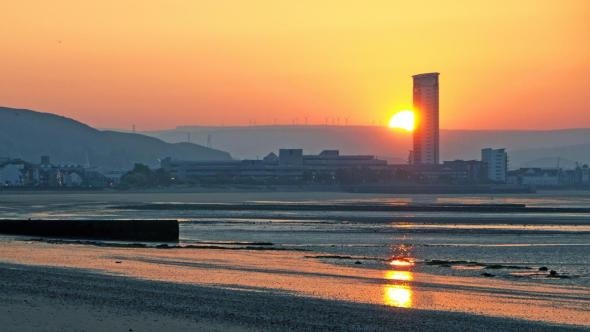 Swansea Bay at dawn