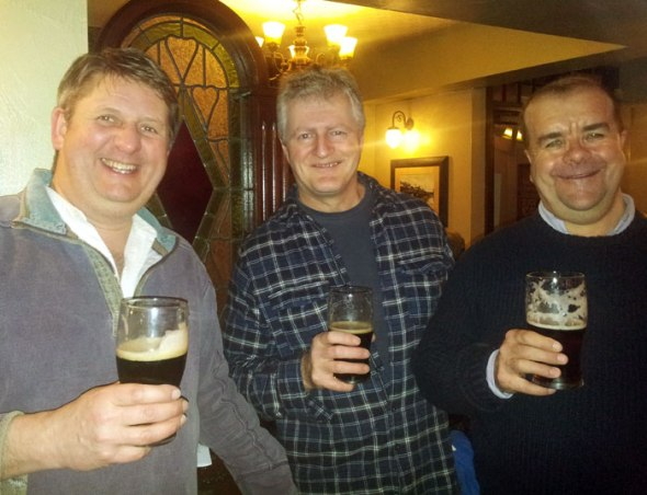 Camra members enjoying  the dark beers in the White Rose, Mumbles.