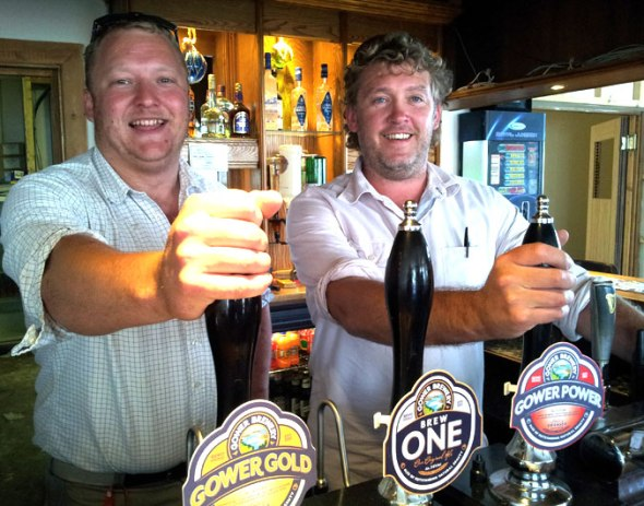 Chris Stevens (left) and Richard Knox of the Ship Inn at Port Eynon.
