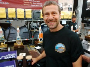 Rob Turner, who took his Mumbles Brewery beers to the Great British Beer Festival at Olympia this week.