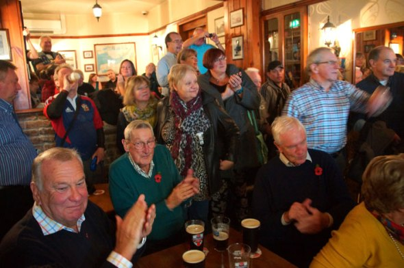 The pub was packed for the award ceremony