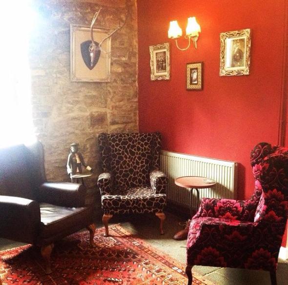 A cosy corner at The Brit.