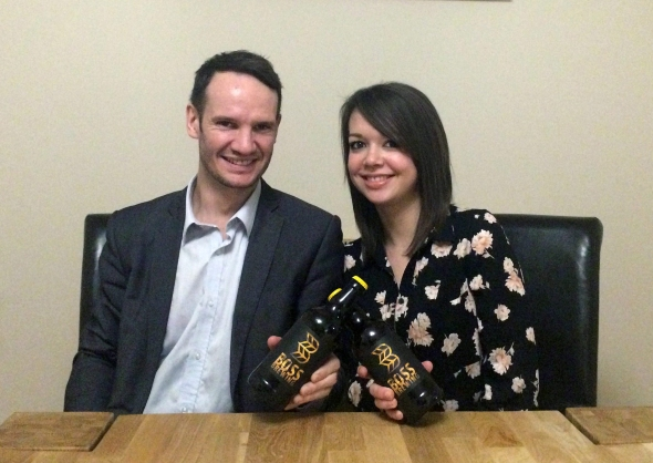 Roy Allkin and Sarah John of Boss Brewing.