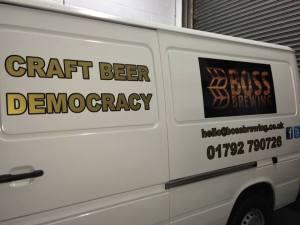 boss brewery van