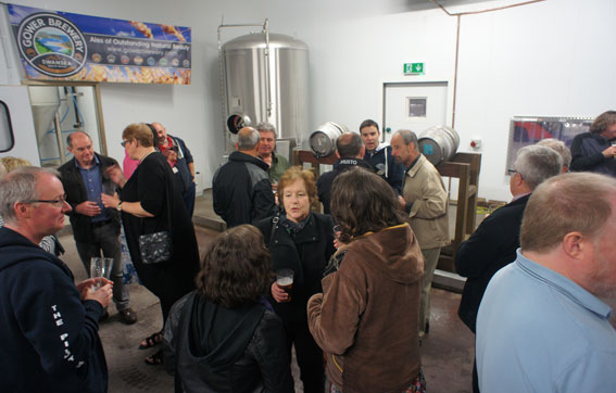 Members of Swansea Camra sampling Gower Brewery beers.