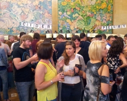 The cider bar at the Brangwyn Hall.