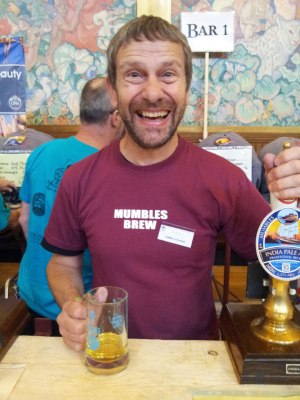Delighted by success: Mumbles brewer Rob Turner.