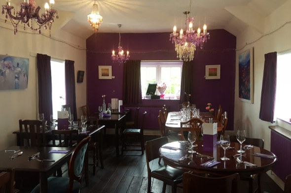 The beautifully refurbished upstairs restaurant.
