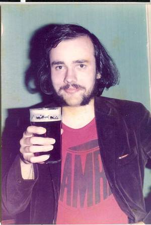 Graham Larkbey, one of the founding members, doing his bit for the cause, circa 1974.