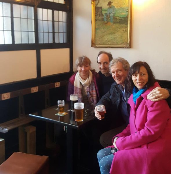 Karen McGeoch (left) and Rod Undy (third from left) with Camra members Pete Jones and Kay Byrne.