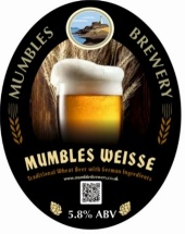 Mumbles Brewery Weisse beer.