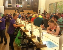 A busy bar at last year's beer festival.