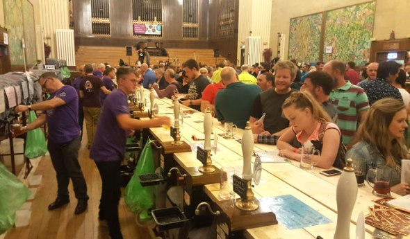 Real ale and cider fans are spoiled for choice at Swansea's annual festival at the Brangwyn Hall.