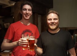 New beer festival organisers Aaron Brown and Chris Freestone.