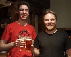 New beer festival organisers Aaron Brown and Chris Freestone.